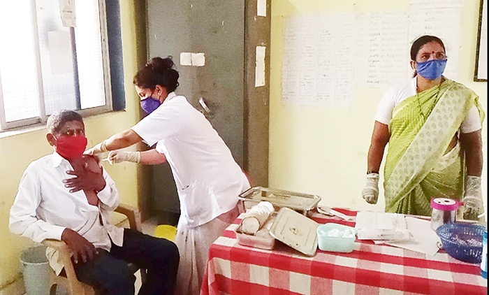 vaccination center in kha
