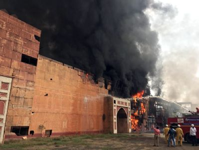 कर्जत : एनडी स्टुडिओत आग